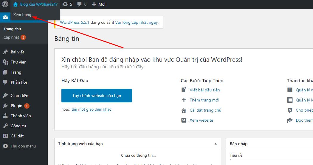 xem blog wordpress