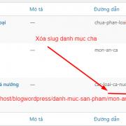 Cách xóa slug danh mục sản phẩm cha trong WooCommerce