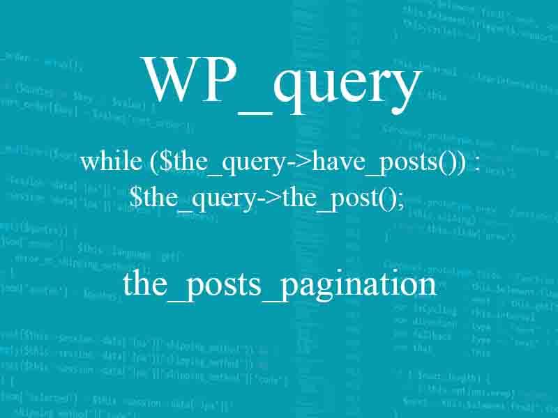 WP_query wordpress
