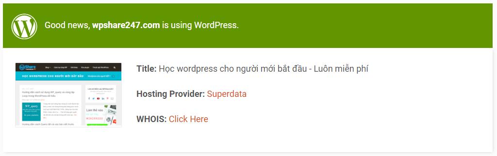 tool kiểm tra wordpress