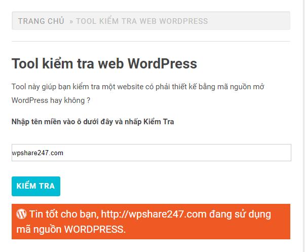 tool kiểm tra wp