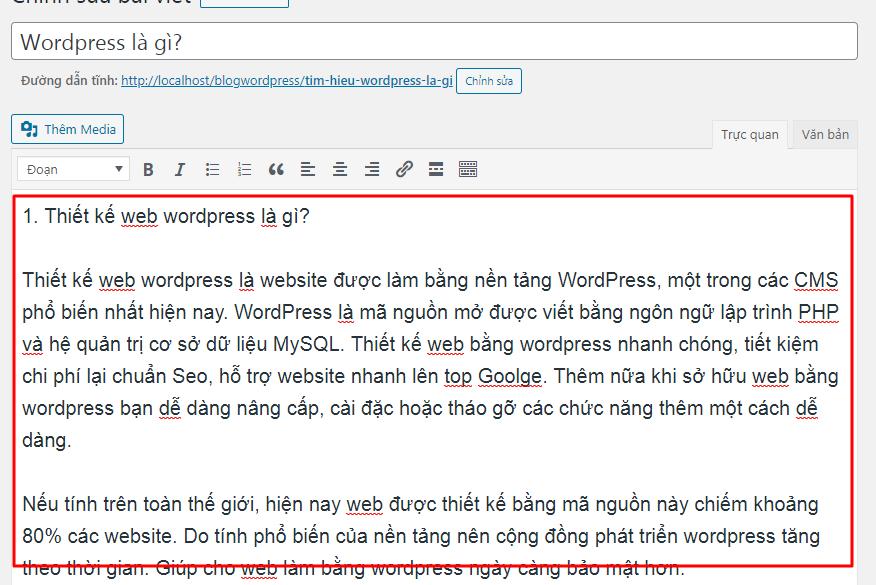Tìm hiểu chi tiết về Bài viết WordPress là gì ?