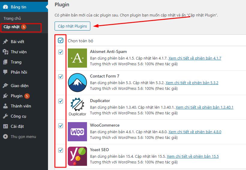 Bảng tin Dashboard WordPress là gì ?