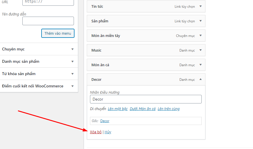 Hướng dẫn cách tạo Menu trong WordPress