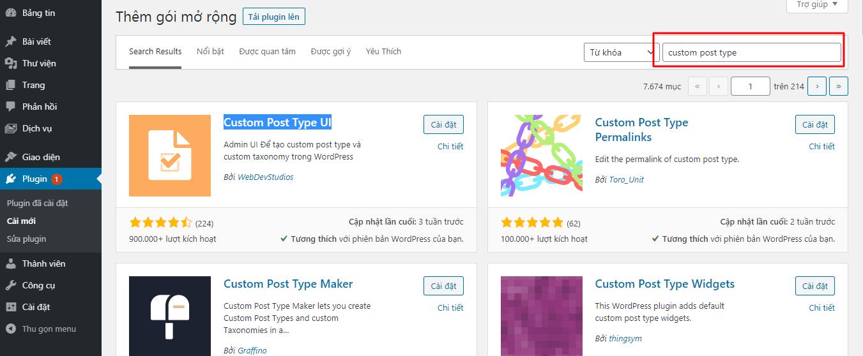 Hướng dẫn cách thêm mới custom post type trong WordPress