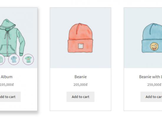 Hình plugin Hover thay đổi hiệu ứng ảnh sản phẩm Woocommerce