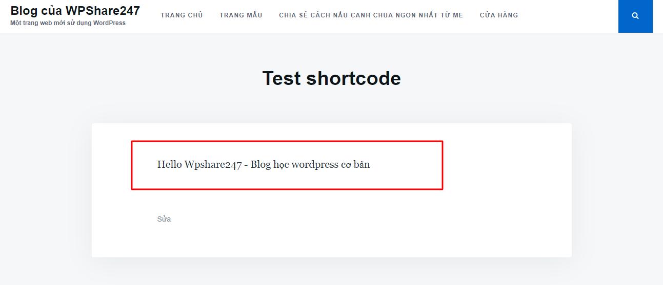 Hướng dẫn cách tạo Shortcode đơn giản trong WordPress