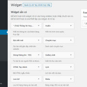 Hướng dẫn cách tạo mới Widget đơn giản trong WordPress