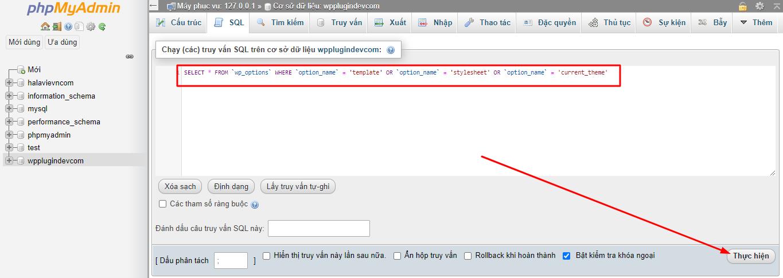 Hướng dẫn cách đổi theme WordPress mới bằng Phpmyadmin
