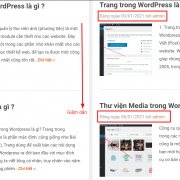 Cách sắp xếp lại bài viết trong WordPress