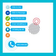 Nút hotline, zalo, facebook, messenger, email – Tất cả trong một