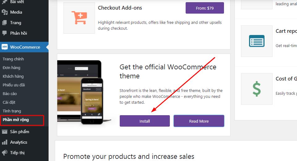 Hướng dẫn cách thêm dữ liệu Sản Phẩm mẫu WooCommerce với Storefront