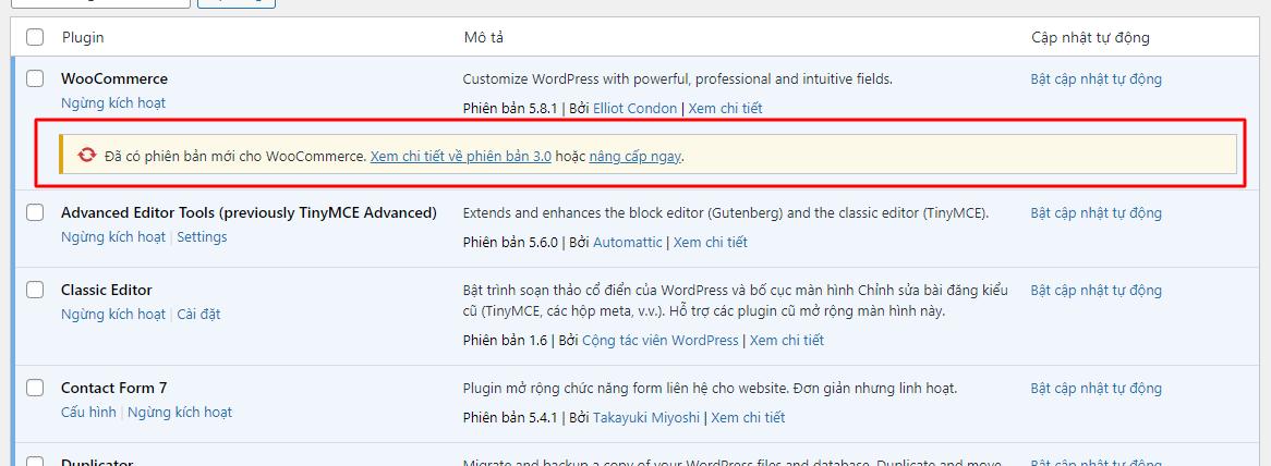 Hướng dẫn cách ngăn chặn Cập nhật Update Plugin trong WordPress