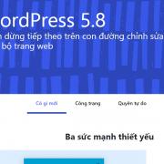 WordPress 5.8 có gì mới so với phiên bản cũ 5.7.2?