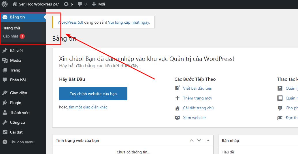Bài 04 - Tổng quan về quản trị WordPress