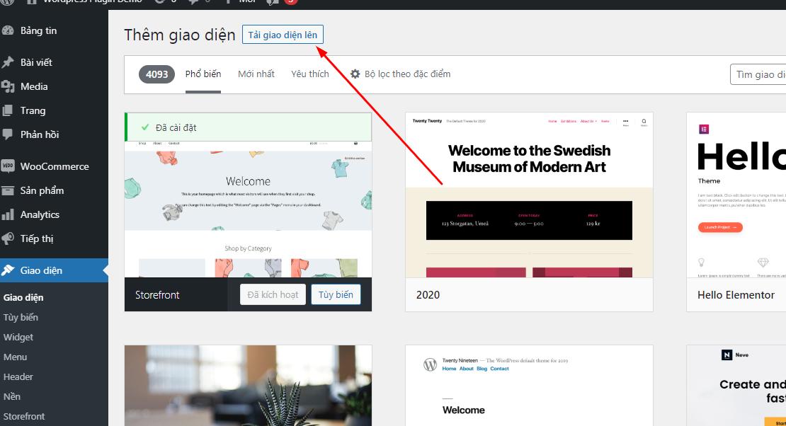 Bài 05 - Cài mới Theme WordPress