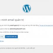Hướng dẫn cách tắt Xác Nhận Email Quản Trị WordPress