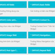 Bộ Source Widget WS247, giúp bạn rút ngắn thời gian Thiết Kế Website